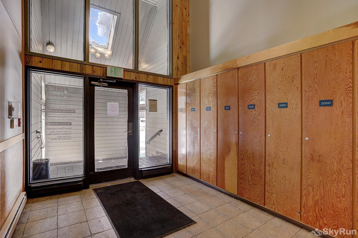 2061 The Pines Building Entrance/Ski Lockers