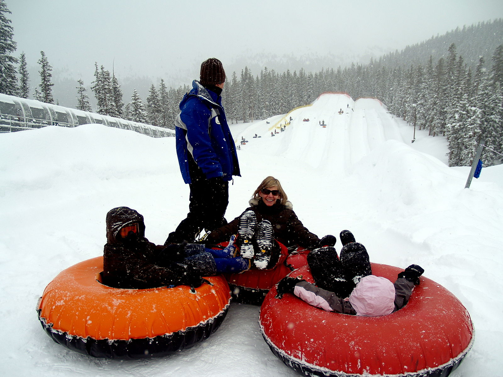 1600px A family snow tubing at Keystone Resort in Colorado
